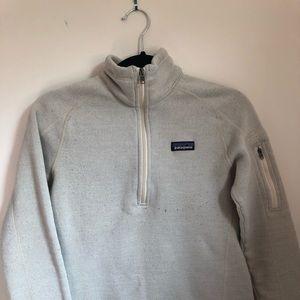 "Patagonia ""birch"" 1/4 zip netter sweater size S"